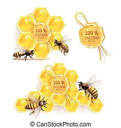 abejas, panales