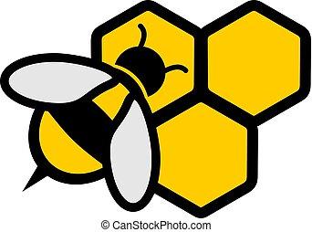 abelha mel, ícone