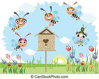 abelhas, engraçado