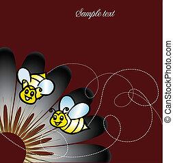 abelhas, flor