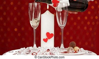 abend, anfang, romantische