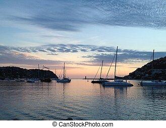 Abend in einer Bucht