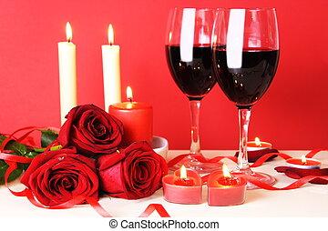 abendessen, leben, noch, romantische , zwei