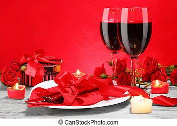 abendessen, liebhaber, romantische , kerzenschein, zwei