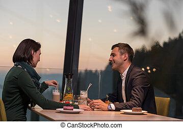 abendessen, paar, romantische , gasthaus