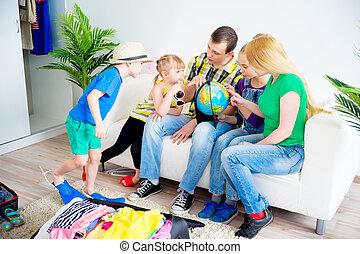 abenteuer, familie, vorbereiten