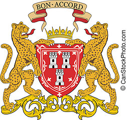 Aberdeen city coa - Various vector flags, state symbols,...