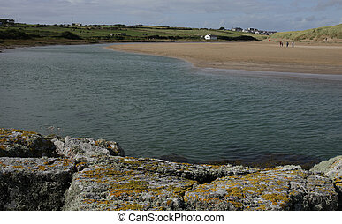 Aberfraw estuary.