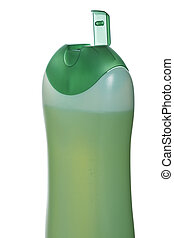 aberta, garrafa plástico, com, sabonetes, ou, shampoo