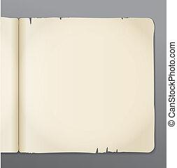 aberta, livro, páginas, fundo