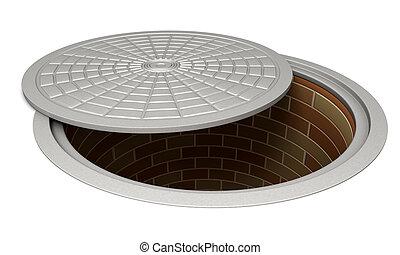 aberta, manhole