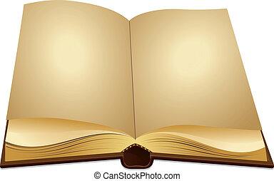 abertos, antiga, livro