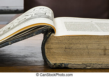 abertos, antigas, livro