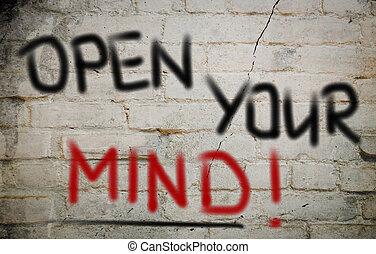 abertos, conceito, mente, seu