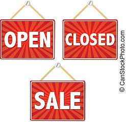 abertos, e, sinais fechados