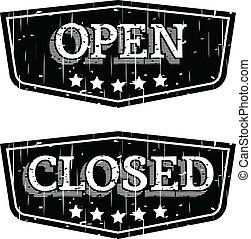abertos, fechado, &