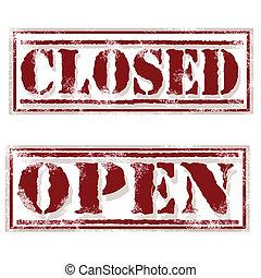 abertos, fechado