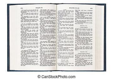 abertos, inglês, bíblia
