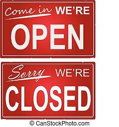 abertos, sinais fechados