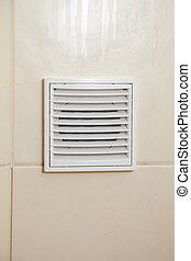 abertura, branca, ventilação, banheiro, grille