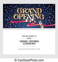 abertura principal, ilustração, fundo, vetorial, convite, cartão