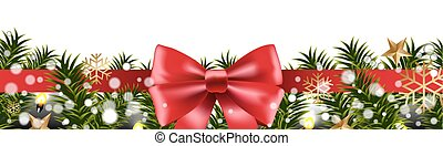 abeto, borda, árvore, natal