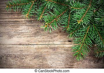abeto, de madera, árbol, navidad, plano de fondo