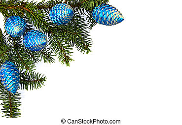 abeto, imagem, horizontais, decoração, brunch, natal