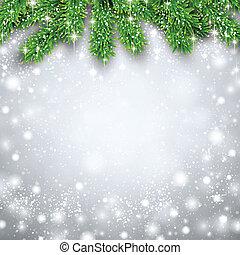 abeto, navidad, fondo.
