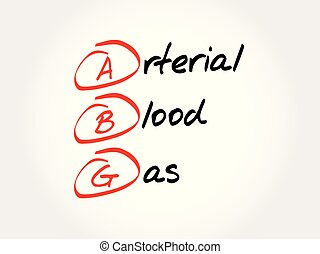 ABG - Arterial Blood Gas acronym, concept background