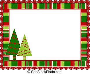 abgestreift, rahmen, weihnachten