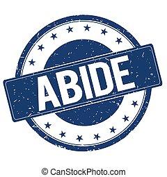 ABIDE stamp sign