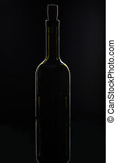 abierto, botella, vino
