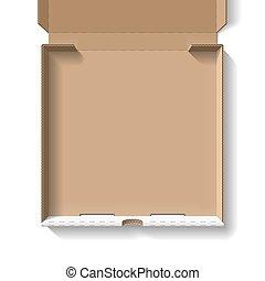 abierto, caja pizza