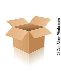 abierto, caja