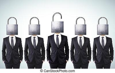 abierto, concepto, mente, su, empresa / negocio