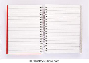abierto, cuaderno