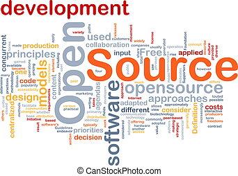 abierto, fuente, plano de fondo, concepto