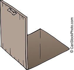 abierto, piso, puerta