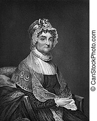 Abigail Adams (1712-1786) on engraving from 1873. Wife of...