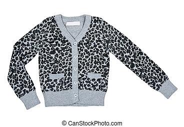 abigarrado, gris, suéter