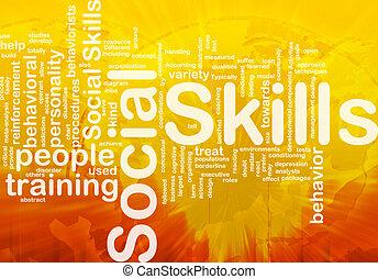 abilità, concetto, fondo, sociale