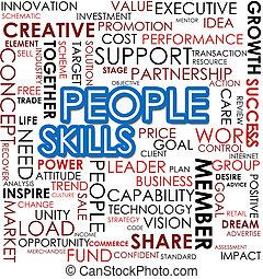 abilità, parola, nuvola, persone