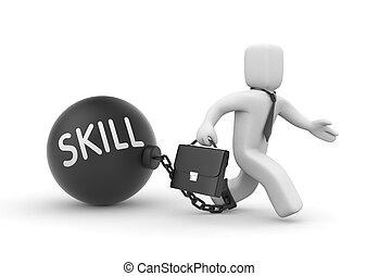 abilità, su, metaphor., 3d, illustrazione