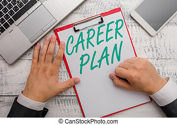 abilities., foto, explorar, texto, mão, carreira, negócio, mostrando, conceitual, ongoing, processo, escrita, interesses, seu, tu, plan., onde