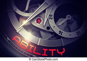 Ability on Elegant Watch Mechanism. 3D.