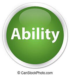 Ability premium soft green round button