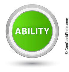 Ability prime soft green round button