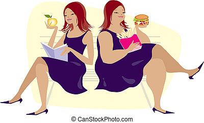 abitudini, mangiare