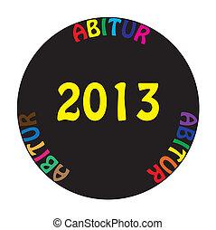 ABITUR 2013 colorful